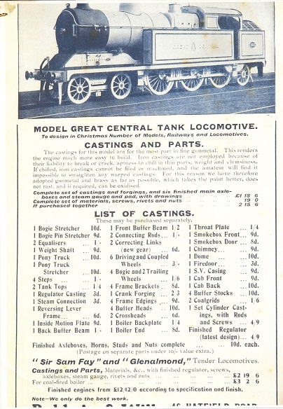 Live Steam Locomotive Kits - G Scale Central
