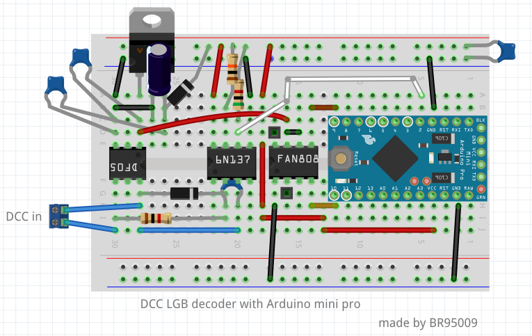 Diy dcc decoder for lgb turnout on arduino day g